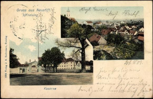 Postcard Neustift Freising in Oberbayern, Ansicht der Kaserne, Panorama