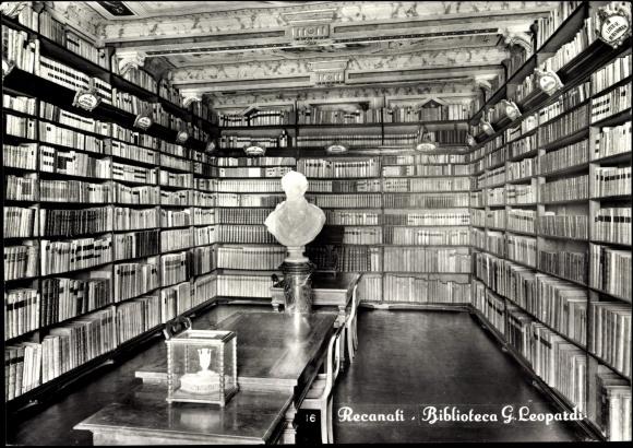 Bücherwände postcard recanati marche biblioteca g leopardi akpool co uk