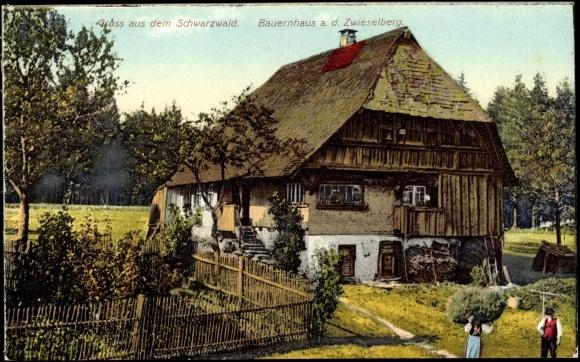 ansichtskarte postkarte freudenstadt schwarzwald bauernhaus a d zwieselberg. Black Bedroom Furniture Sets. Home Design Ideas