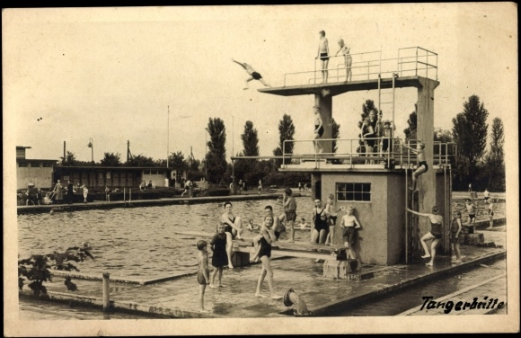 Foto ansichtskarte postkarte tangerh tte anhalt for Schwimmbad stendal