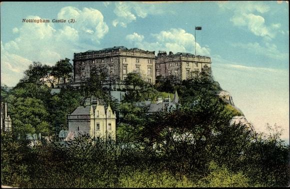 ansichtskarte postkarte nottingham england east midlands nottingham castle blick. Black Bedroom Furniture Sets. Home Design Ideas