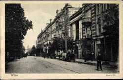 Postcard Wilna Vilnius Litauen, Partie an der Georg Straße, Gebäude
