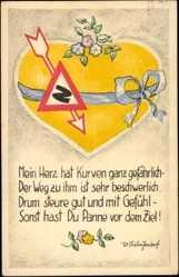 Künstler Ak Wilhelm Jondorf, Mein Herz hat Kurven ganz gefährlich...