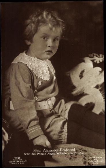 Sohn von August Wilhelm von Preußen, Prinz Alexander, Liersch 7599