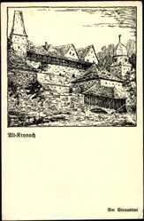 Künstler Ak Neukam, Kronach Oberfranken, Partie am Strauertor