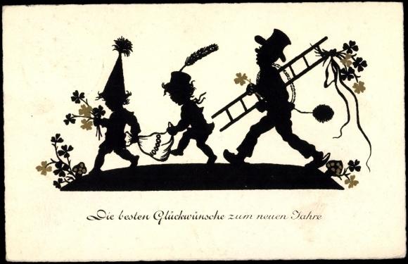 Scherenschnitt Ansichtskarte / Postkarte Glückwünsche zum | akpool.de