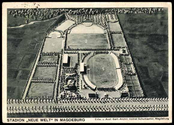 Architekt Magdeburg postcard magdeburg stadion neue welt v architekt akpool co uk