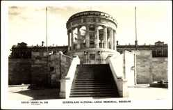 Postcard Brisbane Queensland Australien, National Anzac Memorial, Freitreppe