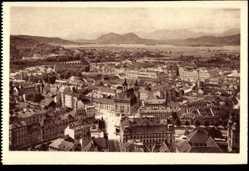 Postcard Ljubljana Slowenien, Gesamtansicht der Stadt, Panorama