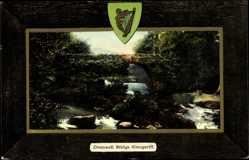 Passepartout Ak Glengariff Irland, general view of Cromwell Bridge