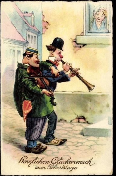 Ansichtskarte Postkarte Gluckwunsch Geburtstag Manner Akpool De