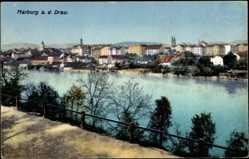 Postcard Marburg an der Drau Slowenien, Partie an der Drau, Stadtansicht