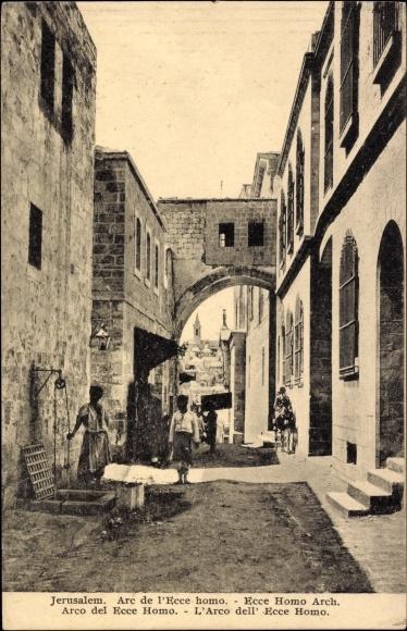 Jerusalem Israel, Arco del Ecce Homo, Einheimische, Gasse