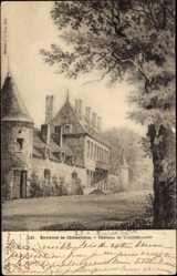Cp Châteaudun Eure et Loir, vue générale du Château de Touchebredier