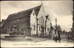 Cp Nogent le Rotrou Eure et Loir, vue générale de l'Eglise Notre Dame