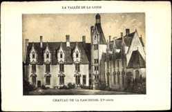Cp La Vallée de la Loire Indre et Loire, vue générale du Château de la Gascherie