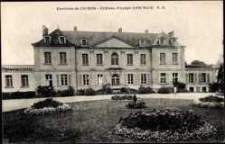 Cp Chinon Indre et Loire, vue générale du Château d'Uzage