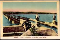 Cp Briare en Loiret, Pont Canal sur la Loire, Blick auf den Kanal, Brücke