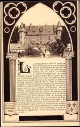 Passepartout Ak Montrésor Indre et Loire, vue générale du château