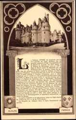 Cp Usse en Indre et Loire, Vue du Chateau, Ansicht des Schlosses