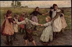 Künstler Ak Genzmer, B., Kinderreigen, Wesole towarzystwo