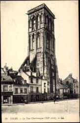 Cp Tours en Indre et Loire, La Tour Charlemagne XIIe siecle