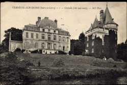Cp Verneuil sur Indre en Indre et Loire, Le Chateau, cote sud ouest