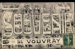 Buchstaben Ak Vouvray en Indre et Loire, Jardin de la France
