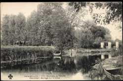 Cp Vouvray en Indre et Loire, Barrage sur la Cisse, Partie am Fluss