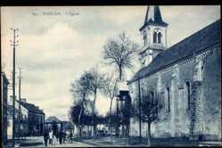 Cp Badecon en Indre, Vue de l'Eglise, Ansicht der Kirche, Straßenseite