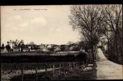 Cp Chabenet en Indre, Vue sur le Pays, Landstraße, Blick zum Ort