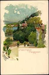 Künstler Litho Voellmy, F., Montreux Territet Kanton Waadt, vue générale