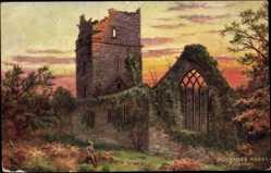 Künstler Ak Killarney Irland, Muckross Abbey, Ruine einer Abtei