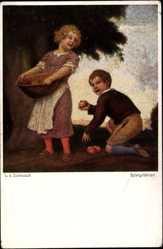 Künstler Ak Zumbusch, Ludwig von, Spielgefährten, Novitas 892