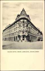 Postcard Jugoslawien Slowenien, Grand Hotel Union, Ljubljana, Außenansicht