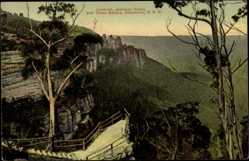 Postcard Katoomba New South Wales Australien, Jameson Vally and three Sisters
