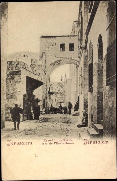 Jerusalem Israel, Ecce Homo Bogen, Arc de l'Ecce Homo