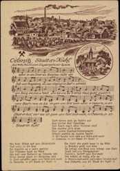 Lied Ak Oelsnitz Erzgebirgskreis, Stadt d'Kuhl von Willy Kaufmann