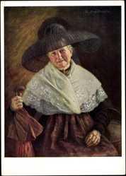 Künstler Ak Nitsch, R., Bürgerfrau aus Mittelfranken, Rothenburg Tauber