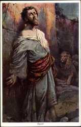 Künstler Ak Tillack, Joh., Daniel in der Löwengrube, Primus 2509