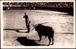 Postcard Stierkampf, Course de Taureaux, L'entrée à la mort, Corrida de toros