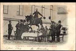 Postcard Saumur Maine et Loire, Dernier Convive ou le Déjeuner interrompu