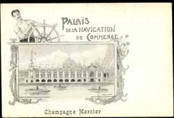 Künstler Ak Orlow, Champagne Mercier, Palais de la Navigation de Commerce
