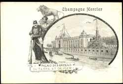 Künstler Ak Orlow, Champagne Mercier, Palais des Armées de Terre et de Mer