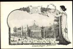 Künstler Ak Orlow, Champagne Mercier, Grand Palais des Beaux Arts