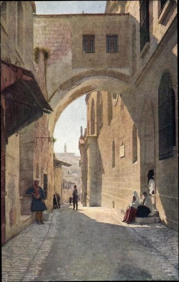 Jerusalem Israel, Partie am Eccehomo Bogen