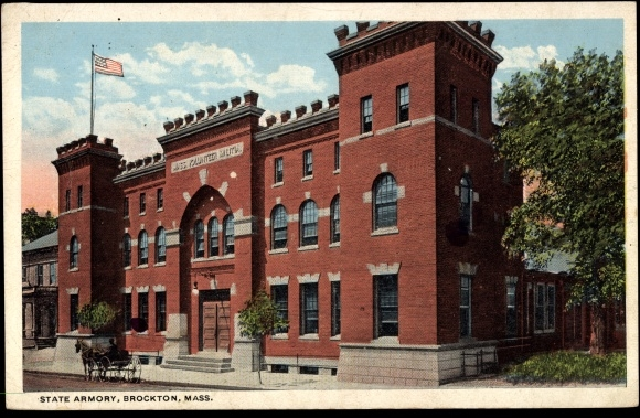 Brockton Massachusetts, View to the State Armory