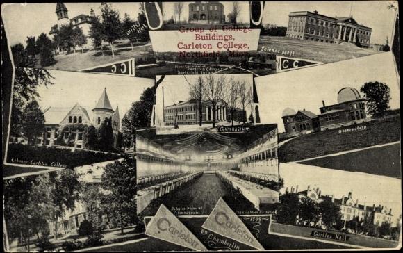 Northfield Minnesota, Group of College Buildings Carleton College