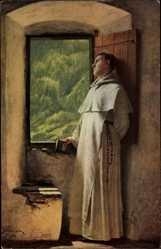 Künstler Ak Cederström, Th. v., Ein Sonnenstrahl, Mönch