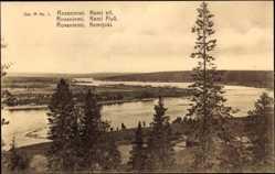 Postcard Rovaniemi Lappland Finnland, Kemi Elf, Flussansicht, Wälder